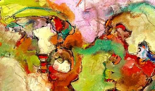 Strukturen und Farbflächen in der Malerei