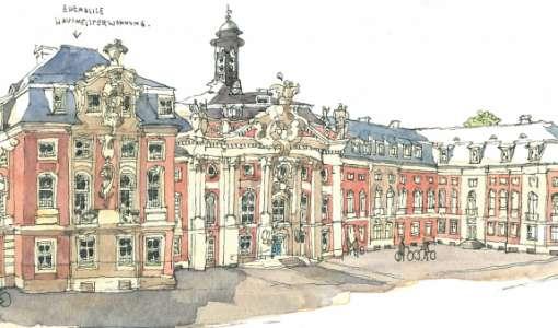 Mit dem Skizzenbuch durch Würzburg